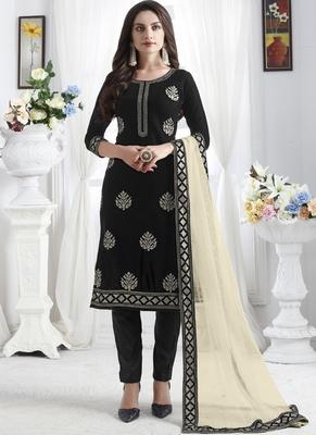Black Velvet Pakistani Salwar Kameez