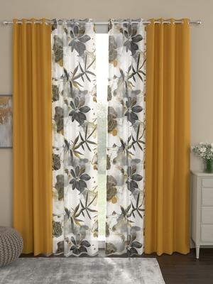 ROSARA HOME Sumo Matty Voile Pack of 4 Door Curtains