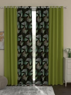 ROSARA HOME Sumo Matty  Pack of 4 Door Curtains