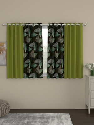 ROSARA HOME Sumo Matty  Pack of 4 Window Curtains