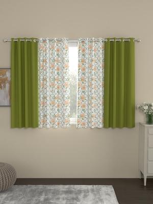 ROSARA HOME Sumo Matty  Pack of 4 Window Curtains