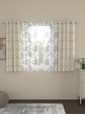 ROSARA HOME Reggio Belle Pack of 4 Window Curtains