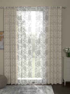 ROSARA HOME Reggio Belle Pack of 4 Door Curtains
