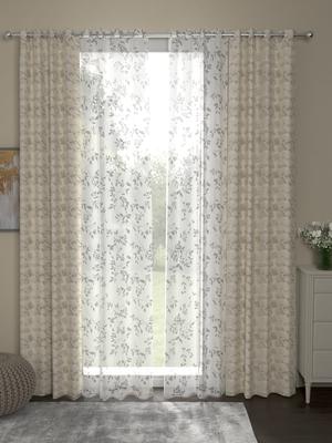 ROSARA HOME Reggio Emily Pack of 4 Door Curtains