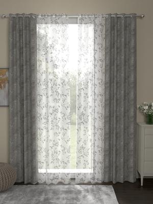 ROSARA HOME Regal Emily Pack of 4 Door Curtains