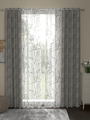 ROSARA HOME Regal Wallace Pack of 4 Door Curtains