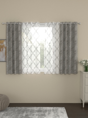 ROSARA HOME Regal Bruno Pack of 4 Window Curtains