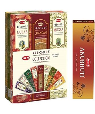 Hem Precious 9 Assorted Incense sticks and Masala Incense stick