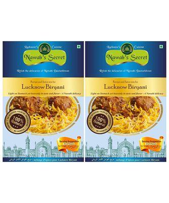 Nawab's Secret Lucknows Biryani Masala, 55 Grams Pack Of 2