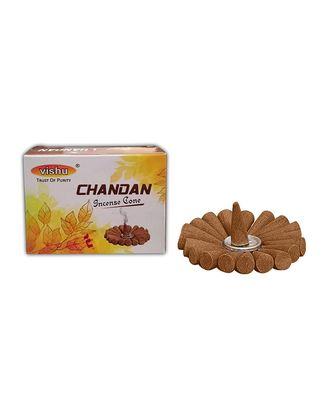 Vishu Chandan Incense Dhoop Cone (Pack of 12)