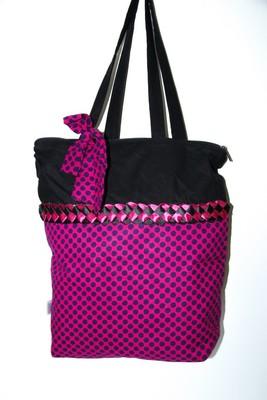 Pink Polka Dots Handbag