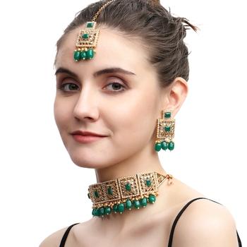 Green cubic zirconia jewellery