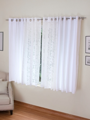 ROSARA HOME Mateo Emily Pack of 4 Window Curtains