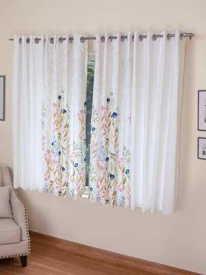 ROSARA HOME Mateo Grace Panel Pack of 4 Window Curtains