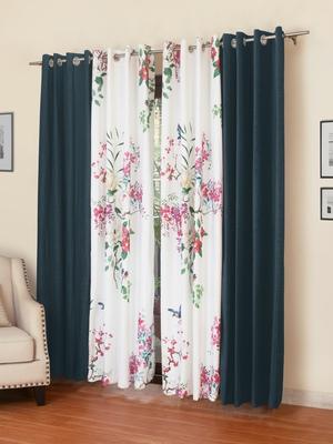 ROSARA HOME Mateo Kai Panel Pack of 4 Door Curtains