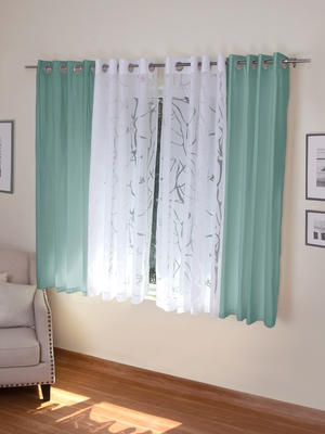 ROSARA HOME Mateo Wallace Pack of 4 Window Curtains