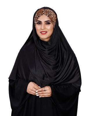 Justkartit Women Chiffon Lycra Printed Tie Knot Ready To Wear Hijab Scarf