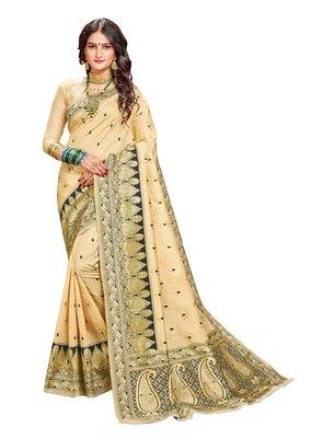 Designer Kanchipuram Banarasi Silk Saree With Blouse