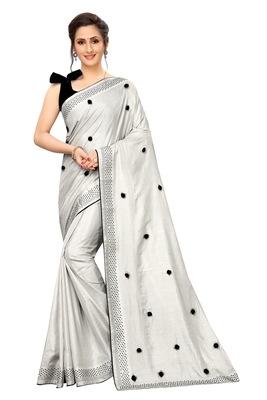 Designer Silk Saree With Blouse