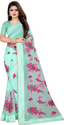 Pista Women's Net Designer Embroidery Saree With Blouse