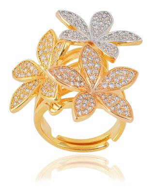 Designer Fancy Partywear Clubwear Finger Metal Cocktail Ring For Women Girls