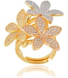 Designer Fancy Partywear Clubwear Finger Metal Cocktail Ring For Women Girls
