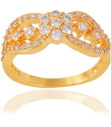 Fashion Artificial Fancy Party Wear Daily Wear Designer Gold Plated Ring For Women