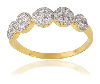 Gold Metal Ring For Women - Size: 15