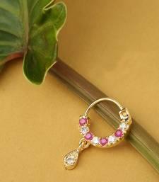 Pink nose-ring