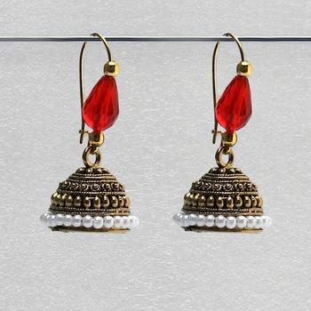 Red Antique Jhumkas
