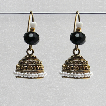 Black Antique Jhumkas