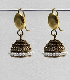 Gold antique jhumkas