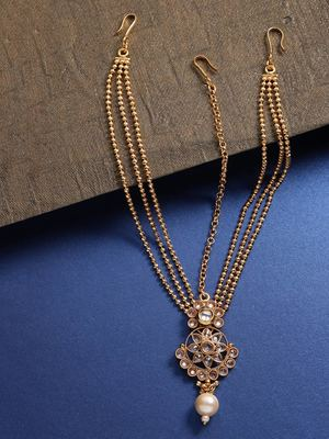 Gold hair-accessories