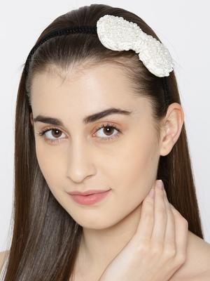 Cream hair-accessories