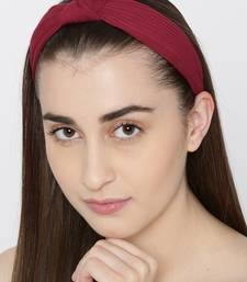 Maroon hair-accessories