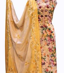 Suroh by Chandni Designer Georgette Floral Handcrafted Suit Fabric