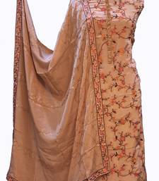 Suroh by Chandni Designer Crepe Resham Work Suit Fabric