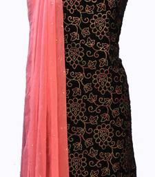 Suroh by Chandni Designer Midnight Blue Velvet Suit Fabric