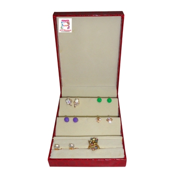 atorakushon® Brown Multipurpose Ring Earring Jewellery Box Organiser Easy to Carry