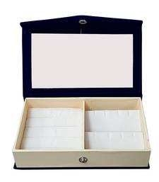Atorakushon Multipurpose Ring Earring Jewellery Box Organiser Easy to Carry Blue