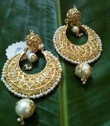 Buy traditional golden heavy earring hoop online