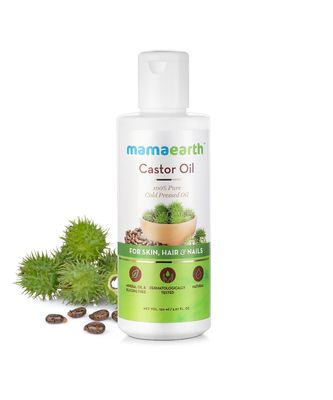 150 ml Mamaearth 100% Pure Castor Oil, Cold Pressed, To Support Hair Growth, Good Skin and Strong Nails