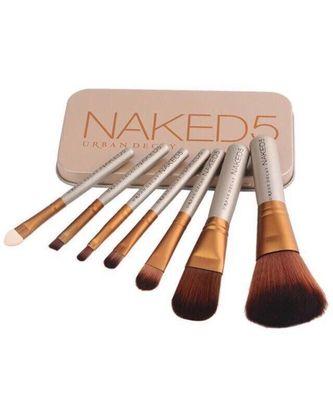 Naked5 Set of 7 Professional makeup Brushes