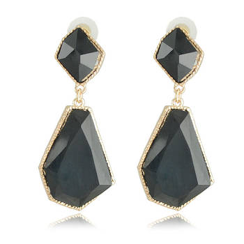 Geometric shapes black earrings