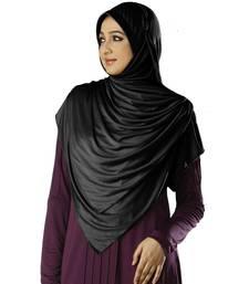 Anarkali Semi-Stitched Hijab Black Size Xl