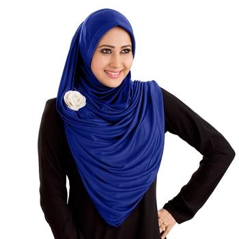 Anarkali Semi-Stitched Hijab Royal Blue - Xl