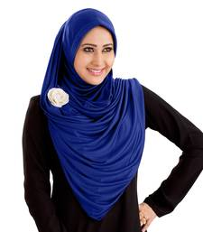 Anarkali Semi-Stitched Hijab Royal Blue - Xl