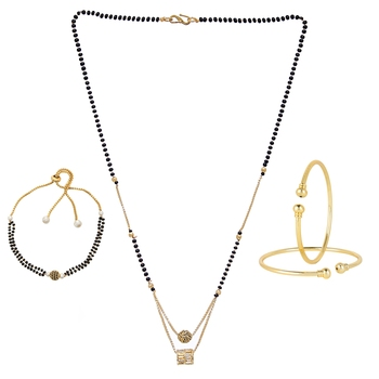 Gold zircon jewellery-combo