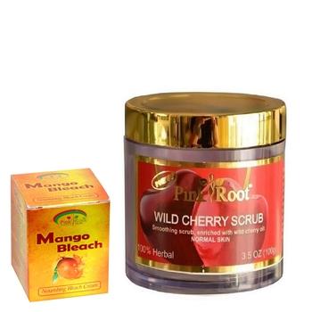 100gm Wild Cherry Scrub  With 50gm Mango Bleach