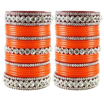 Orange Crystal Bangles And Bracelets